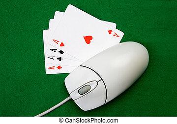 온라인의, 도박