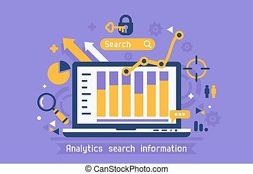 온라인의, analytics, 검색, 정보