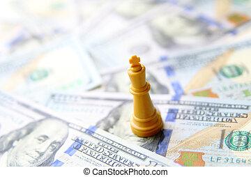 왕, 의, 사업, concept., 우리 달러