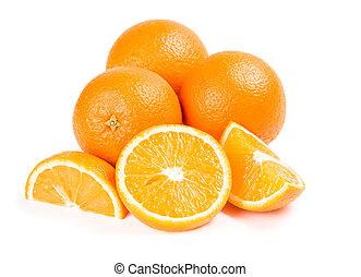 외래의, 오렌지, 과일