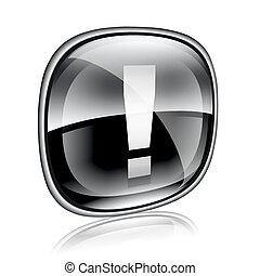 외침, 상징, 아이콘, 검정, 유리, 고립된, 백색 위에서, 배경