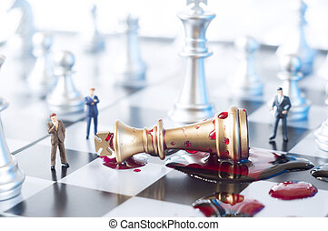 외통 장군, 사업, 또는, 정치에 참여하는, 개념