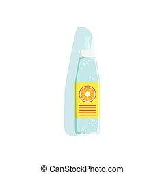 요소, 마실 것, 삽화, 운동회, 물, 벡터, 수집, 병, 적당, 오렌지, 수화시키는 것, 플라스틱