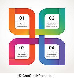 요약 디자인, 와..., infographics, 배경, 벡터, 아이콘