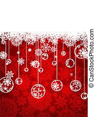 우아한, 배경., eps, 크리스마스, 8
