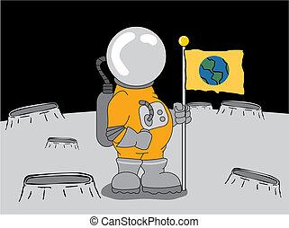 우주 비행사, 달