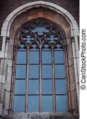 우크라이나, 얼이z아bxx, 크게, 가., 창문, 교회, 정면, olga, lviv.