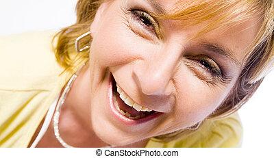 웃음, 큰 소리로의, 성인, 나가