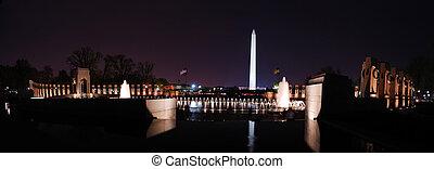 워싱턴 기념탑, 파노라마, 워싱톤, dc.