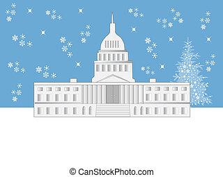 워싱톤 피해 통제, 휴일, 장면