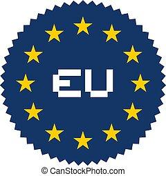 원, 스티커, european