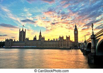 웨스트민스터, 크게, 런던, 벤, 대수도원