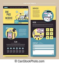 웹사이트, 개념, 과정, 하나, 디자인, 페이지