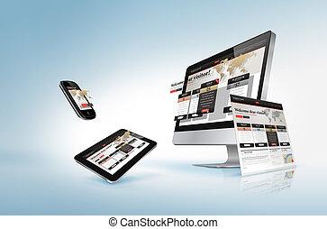 웹, 개념, 디자인