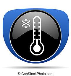 웹, 추위, 온도계, 아이콘