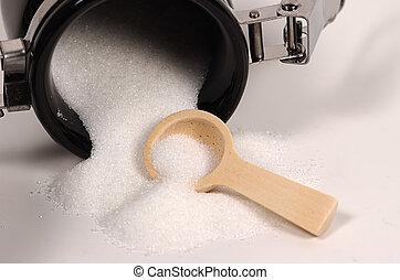 유출하는, 설탕