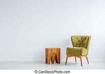 유행, 녹색, 안락 의자