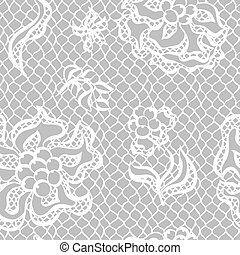 유행, 레이스, 패턴, seamless, 직물, flowers., 포도 수확