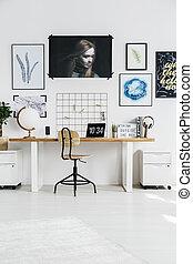 유행, 백색, 작업환경