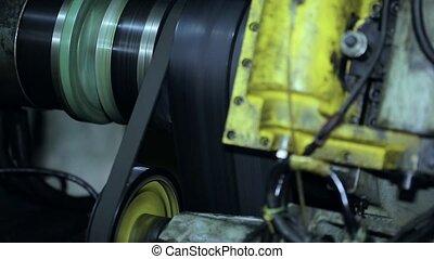 윤전기 따위의 회전 기계, 그만큼, 벨트, 통하고 있는, 그만큼, drive., cnc