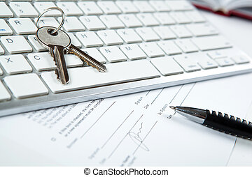 은유, 의, 부동산, 서비스, 에서, 새로운, 주택