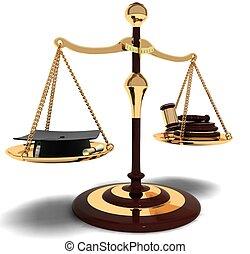 은 대결한다, 재판관, 법률가