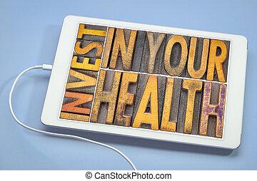 은 안으로 투자한다, 너의, 건강, 개념