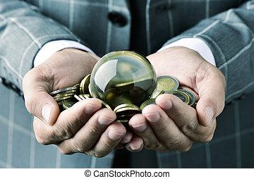 은 화폐로 주조한다, 공, 유러, 실업가, 결정