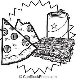 음식, 밑그림, 대학