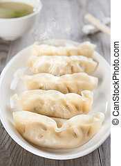 음식, 신선한, 덤플링, 아시아 사람, 중국어