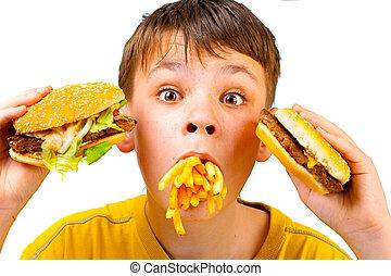 음식, fast, 아이