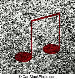 음악 노트, 통하고 있는, 은 부순다, 와, 떼어내다, 배경