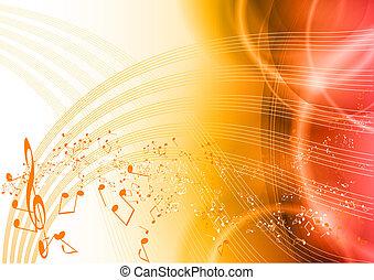 음악, 빨강