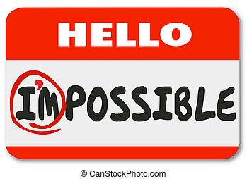 이름, 긍정적인, 가능한, 삽화, 태도, 꼬리표, im, 잠재력