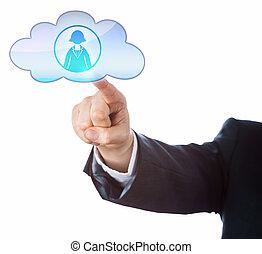 이어지는 것, 와, 여성, 사무원, 에서, 그만큼, 구름