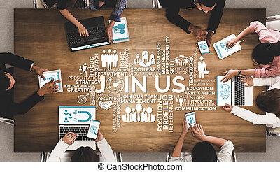 인간, 네트워킹, 개념, 사람, 자원