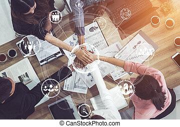 인간, concept., 네트워킹, 사람, 자원