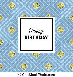 인사, 우아한, 생일, 디자인, 기하학이다, 카드, 행복하다