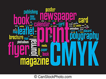 인쇄, 낱말, 구름
