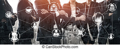 인적 자원, concept., 사람, 네트워킹