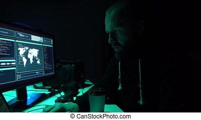 인터넷, 사기, darknet, 자료, thiefs, cybergrime, concept., 해커, 공격,...