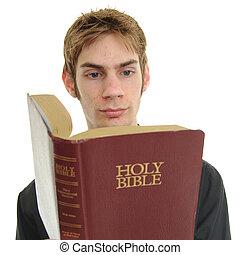 읽다, 성경, 십대 후반의 청소년