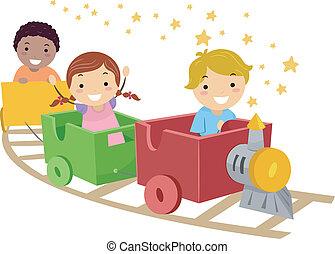 임시 변통, 기차