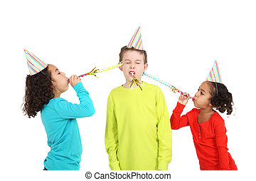 입는 것, 불, 모자, 아이들, 소음, 파티, 제작자