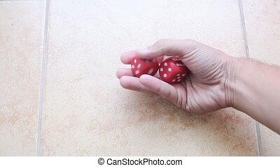 입방체, 에서, 손, 개념, 의, luck.