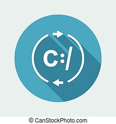 자료, 교환, 네트워크, -, 벡터, 웹, 아이콘