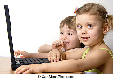 자매, 휴대용 퍼스널 컴퓨터, 일, 형제