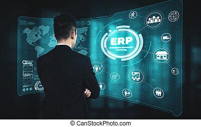 자원, 자원, 소프트웨어, 사업, 기업, 체계, 계획, 관리, erp
