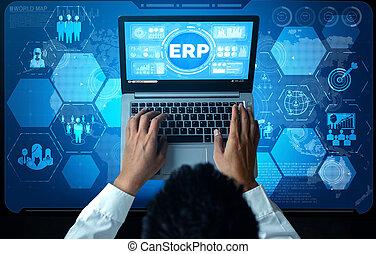 자원, 체계, 자원, 관리, erp, 소프트웨어, 계획, 기업, 사업