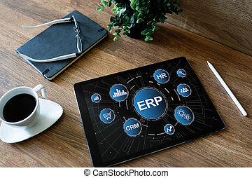 자원, system., automation., 사업, 기업, planning., erp, 과정